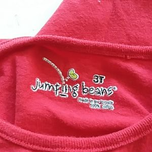 Jumping beans 3T red daddy Valentine's Day t-shirt